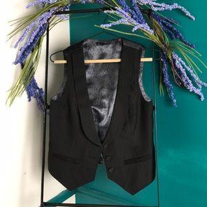 Black pinstripe vest